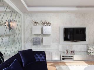 Mimoza Mimarlık Moderne Wohnzimmer