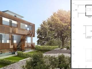 via della pace: Case in stile in stile Moderno di ORA | Officina per la Rigenerazione e l'Architettura