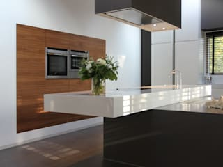 Woonhuis Dorst:  Keuken door Leonardus interieurarchitect