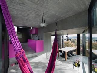 Wohnhaus Dielsdorf:  Wohnzimmer von L3P Architekten ETH FH SIA AG