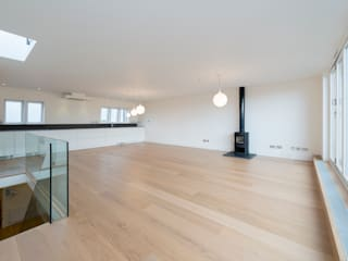 Kensington Penthouses Minimalist living room by DDWH Architects Minimalist