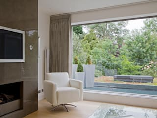 St Johns Wood Family Home, London Salones minimalistas de DDWH Architects Minimalista