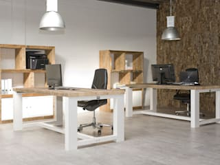 Rustic style office buildings by PuurKurk Rustic