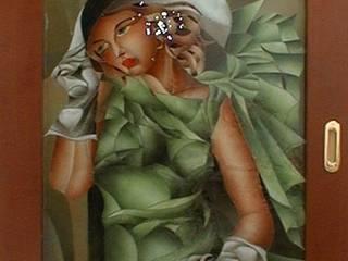 Ragazza in verde:  in stile  di G.M.Selena-Laboratorio Artigianale di Salami Elena