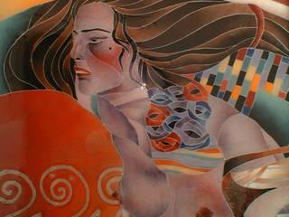 Salomè, Klimt (dettaglio):  in stile  di G.M.Selena-Laboratorio Artigianale di Salami Elena