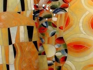 IL BACIO,Klimt:  in stile  di G.M.Selena-Laboratorio Artigianale di Salami Elena
