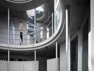 水盤のある都市型コンクリート住宅: スタジオ4設計が手掛けた庭です。