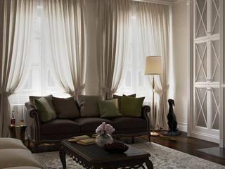 Living room by Архитектурное бюро Андрея Стубе,