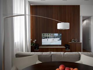 Ruang Keluarga Modern Oleh Архитектурное бюро Андрея Стубе Modern