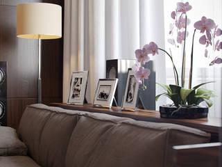 Интерьер квартиры в Алых Парусах Гостиные в эклектичном стиле от Архитектурное бюро Андрея Стубе Эклектичный