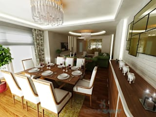Teknik Sanat İç Mimarlık Renovasyon Ltd. Şti. Classic style living room