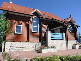 Rustic style houses by архитектурная мастерская МАРТ Rustic