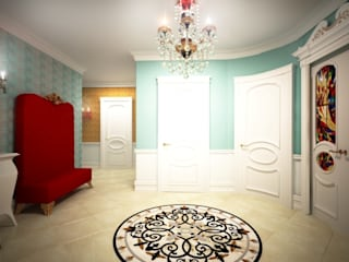 Classic style corridor, hallway and stairs by Альбина Романова Classic