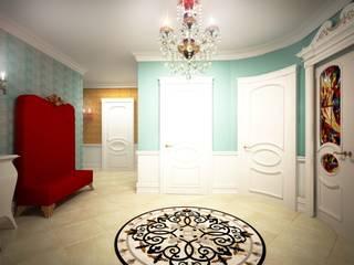 Дизайн проект квартиры 118 кв. метров на ул. Варшавская, г. Санкт-Петербург. Коридор, прихожая и лестница в классическом стиле от Альбина Романова Классический
