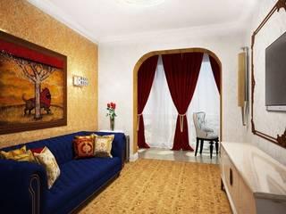 Дизайн проект квартиры 118 кв. метров на ул. Варшавская, г. Санкт-Петербург. Гостиная в классическом стиле от Альбина Романова Классический