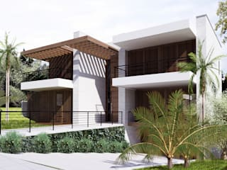 Casa MJD: Casas  por Mantovani e Rita Arquitetura,