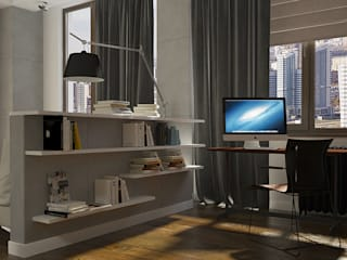 CO:interior Industrial style study/office