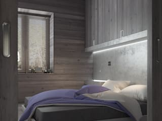 Бетон и другие катастрофы Спальня в стиле минимализм от FEDOROVICH Interior Минимализм