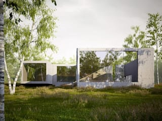 Summer residence, British Columbia, CDN von ern+ heinzl Architekten Minimalistisch