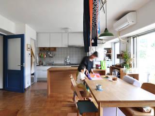 木のぬくもりに囲まれた家 すくすくリノベーション vol.3 オリジナルデザインの ダイニング の 株式会社エキップ オリジナル