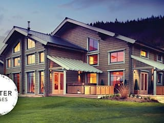 Hunter Lodges at Celtic Manor Resort Scandinavian style houses by Lodgico Ltd Scandinavian