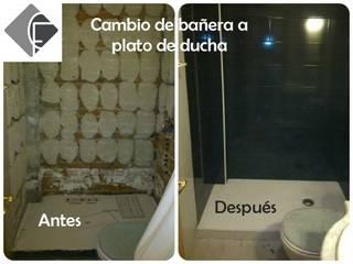 Cambio de bañera a plato de ducha:  de estilo  de Fecofer, Proyectos y Reformas