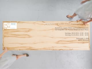 Holzgeschichten zum Anfassen - Ausstellung im Rahmen der Munich Creative Business Week Holzgeschichten EsszimmerTische
