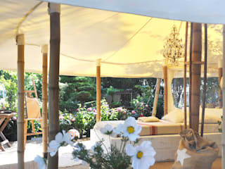 La petite tente bambou : 20m2 de bonheur au coeur de votre jardin ! Marie de Saint Victor JardinAbris de jardin & serres