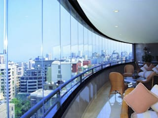 Industrial style balcony, veranda & terrace by Ada İnşaat Industrial