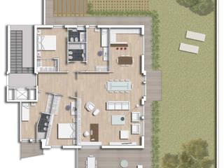 Progetto di ristrutturazione di un appartamento - Roma di IDEASTUDIO
