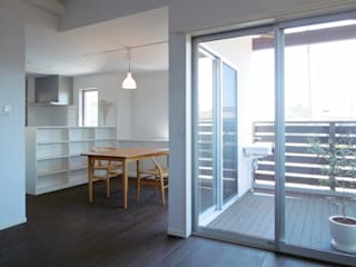 馬木の家 House in Umaki,Matsuyama モダンデザインの ダイニング の wada architectural design office 和田設計 モダン