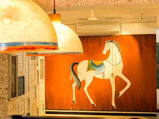 Eclectic Apartment The Orange Lane Salas multimedia de estilo asiático