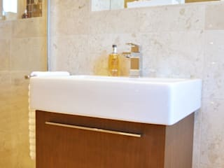 Polished Marble En Suite - Vanity Unit:  Bathroom by Loveridge Kitchens & Bathrooms