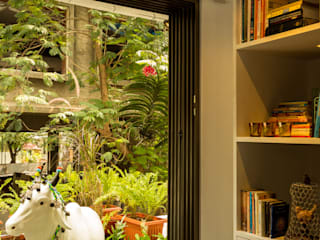 Eclectic Apartment Asian style balcony, veranda & terrace by The Orange Lane Asian