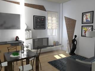 Ristrutturazione di una casa in centro a Bologna Soggiorno moderno di Arch. Emanuele Tona Moderno