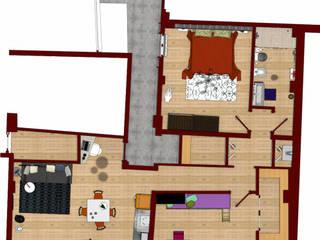 Ristrutturazione di una casa in centro a Bologna di Arch. Emanuele Tona