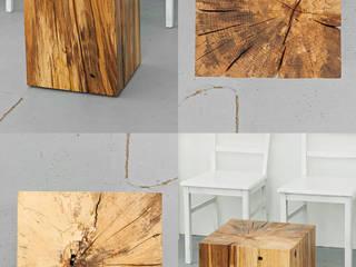 Lawinenholzwürfel Holzgeschichten WohnzimmerCouch- und Beistelltische