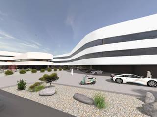 Hotelbau in moderner Architektur Moderne Hotels von FLOW Modern
