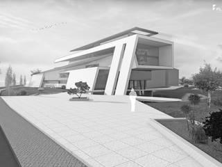 Designstudie Bürogebäude bauen Moderne Häuser von FLOW Modern