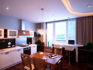 Квартира в ЖК «Александрия» Кухня в стиле минимализм от Geometrium Минимализм
