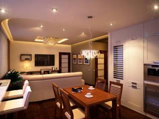 Квартира в ЖК «Александрия» Гостиная в стиле минимализм от Geometrium Минимализм