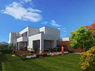 VILLAS EN DONOSTIA-SAN SEBASTIAN: Jardines de estilo  de Itark Arquitectura y Urbanismo