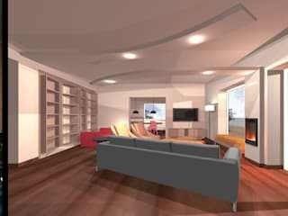 HOME STAGING - INTERIOR DESIGN Soggiorno moderno di Assieh Aminzadeh Moderno