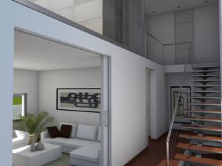 VILLAS EN DONOSTIA-SAN SEBASTIAN: Pasillos y vestíbulos de estilo  de Itark Arquitectura y Urbanismo