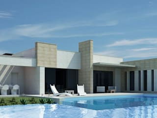 Vivienda Unifamiliar en la provincia de Palencia Casas de estilo moderno de Rubén Sánchez Albillo. Arquitecto Moderno