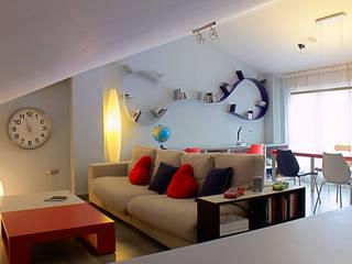 Vivienda Unifamiliar Salones de estilo moderno de Rubén Sánchez Albillo. Arquitecto Moderno