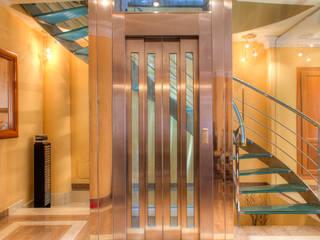 Vivienda Unifamiliar Pasillos, vestíbulos y escaleras de estilo moderno de Rubén Sánchez Albillo. Arquitecto Moderno