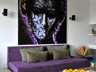 Single Living Moderne Wohnzimmer von The Orange Lane Modern
