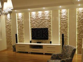 DOĞAL DEKOR – Salon Dekorasyonu | Tv ünitesi Doğal Taş Kaplama:  tarz