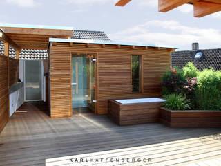 Karl Kaffenberger Architektur | Einrichtung Scandinavian style balcony, veranda & terrace